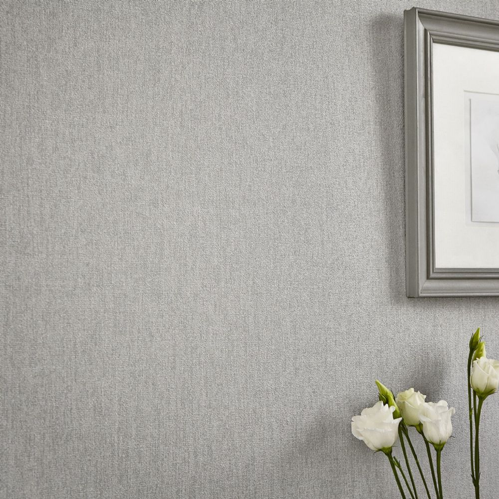 Graham and Brown Calico Grey 31-860 Wallpaper